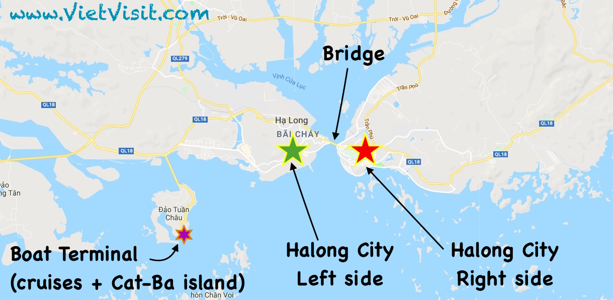 Bahia De Halong Mapa.Halong City Halong Bay Vietnam What To Visit Stay Transport Page 3 A Visit In Vietnam