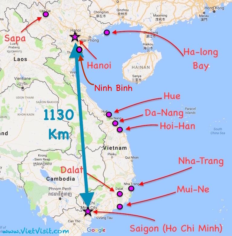 Tra Vietnam E Thailandia Cartina Geografica.Vietnam Cosa Visitare Come Arrivare Dove Alloggiare
